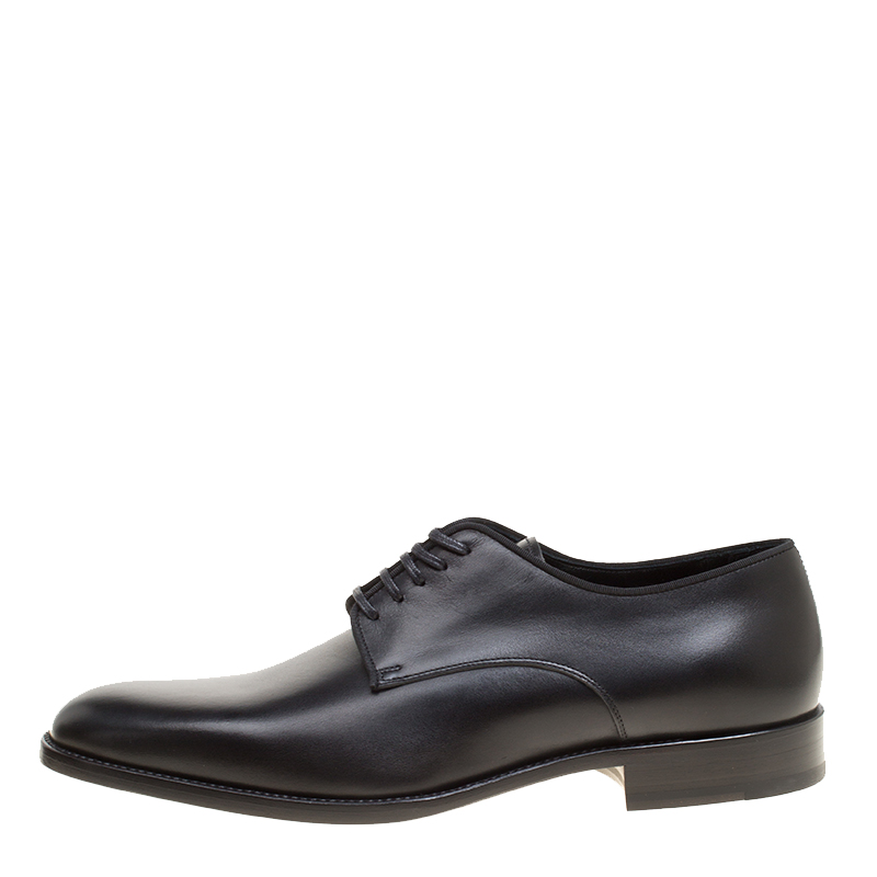 Купить со скидкой Saint Laurent Paris Black Leather Montaigne Lace Up Derby Size 43