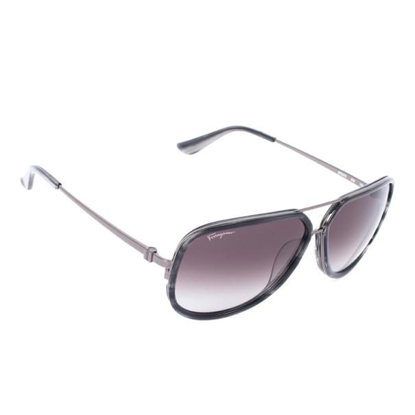 702a0cb10f587 Buy Salvatore Ferragamo Striped Grey 637S Oversized Men s Sunglasses 27843  at best price