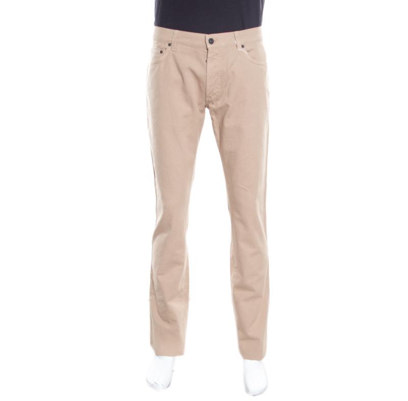 Фото #1: Salvatore Ferragamo Beige Straight Fit Jeans XL