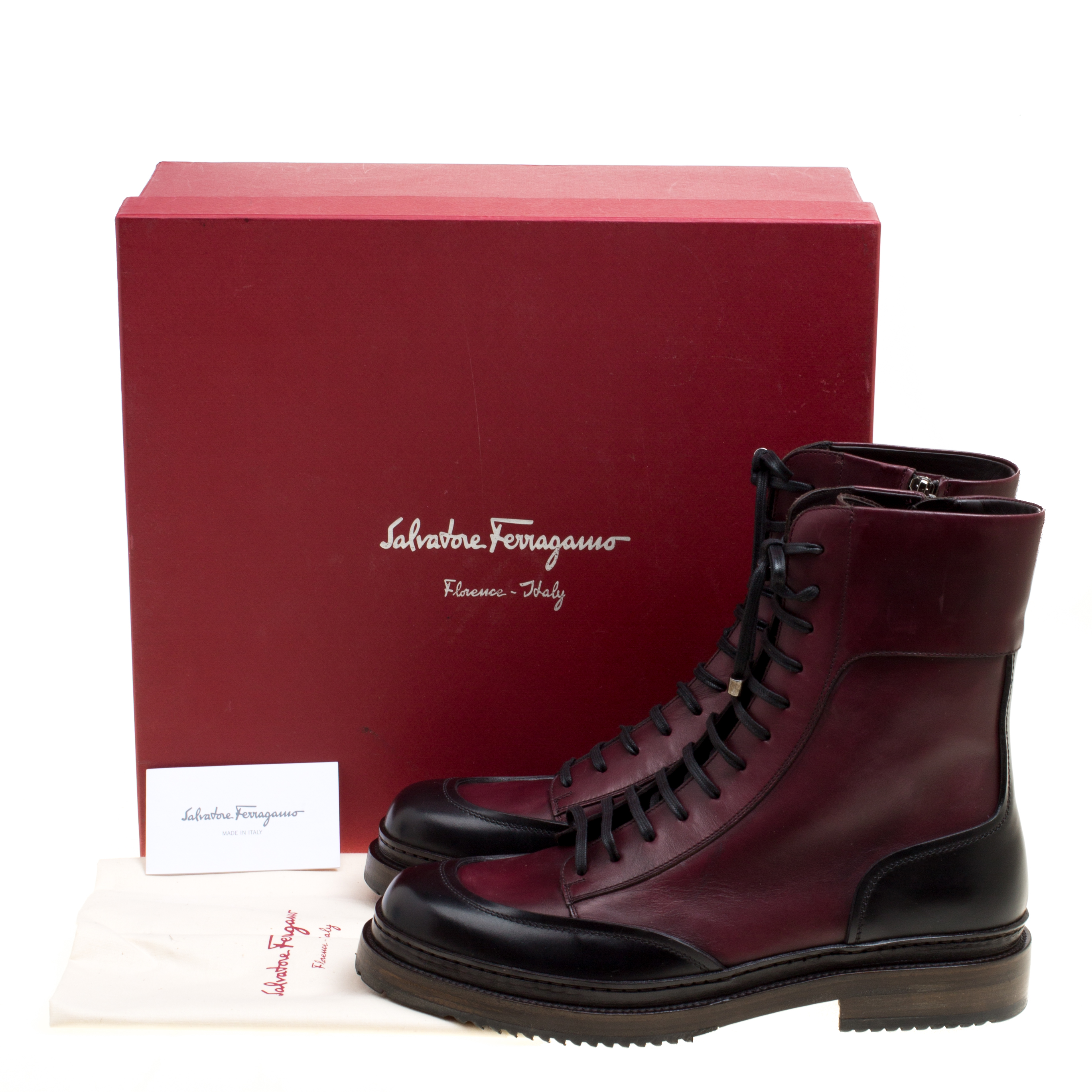 Salvatore Ferragamo Burgundy Leather