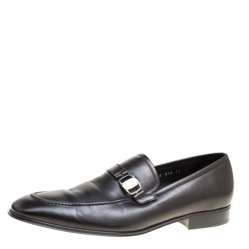 33cb055dbef ... Salvatore Ferragamo Black Leather Mattia Loafers Size 46. nextprev.  prevnext
