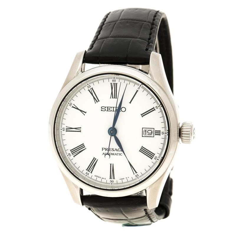 e1edb39e5 إشتري ساعة يد رجالية سايكو ايناميل بريساج انليميتد ستانلس ستيل بيضاء ...