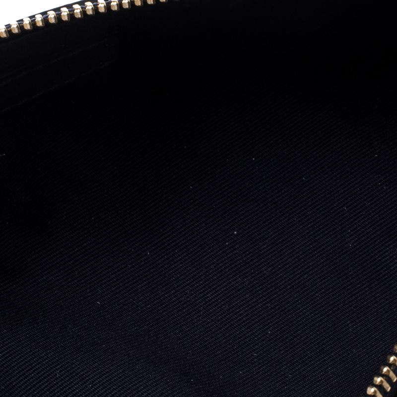 Smythson Dunkel Blau Leder Panama Mäppchen