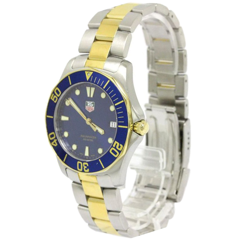 9eb3924babdbd ... Tag Heuer Blue Gold Plated Stainless Steel Aquaracer Men's Wristwatch  39MM. nextprev. prevnext