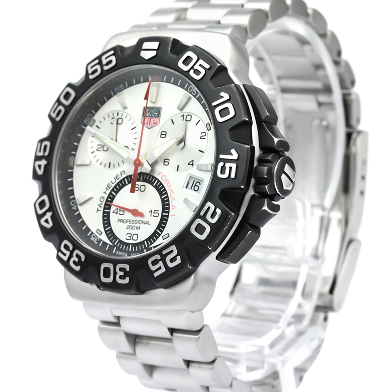 Tag Heuer Silver Stainless Steel Formula 1 Men's Wristwatch 40MM