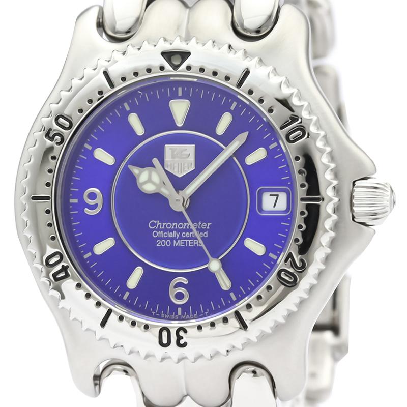 Tag Heuer Bleu d'Acier Inoxydable de Sel 200M Chronomètre Automatique Mens Watch WG5116 des Hommes montre-Bracelet 38 MM