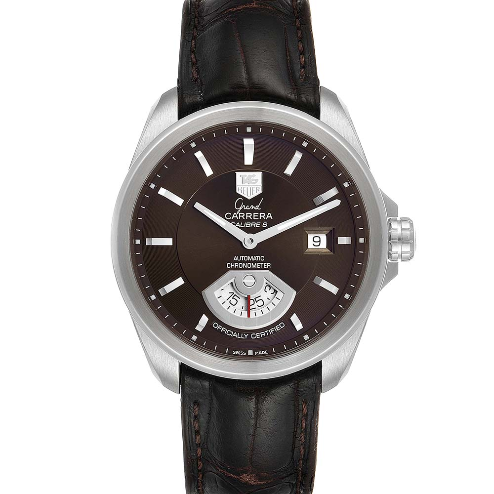 TAG HEUER BROWN STAINLESS STEEL CARRERA AUTOMATIC WAV511C MEN'S WRISTWATCH 40 MM