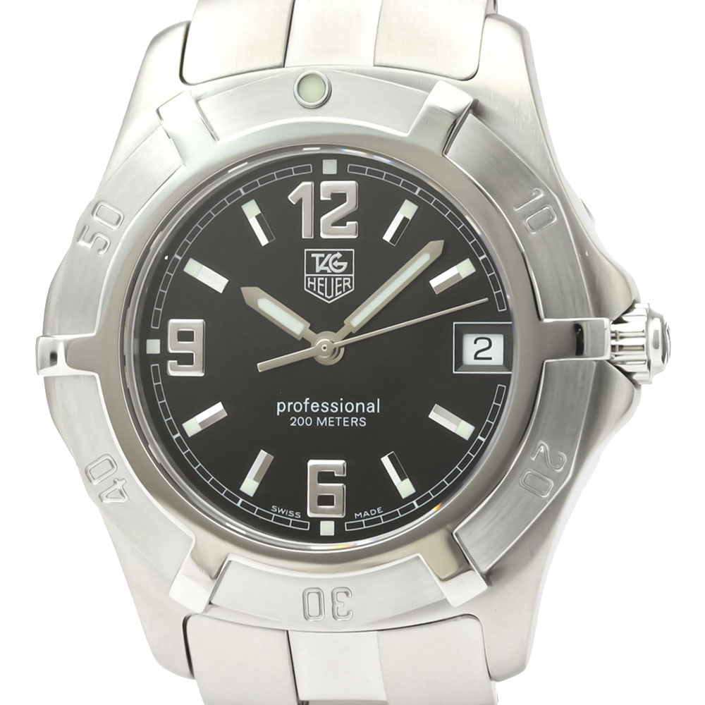 Tag Heuer Black Stainless Steel 2000 WN1110 Quartz Men's Wristwatch 37 MM