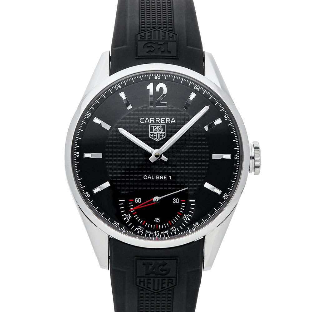 TAG HEUER BLACK STAINLESS STEEL CARRERA CALIBRE 1 LIMITED EDITION WV3010. EB0025 MEN'S WRISTWATCH 44 MM