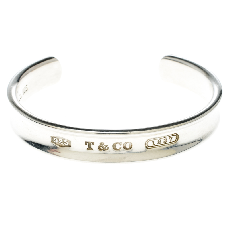 a4037050d74f2 Tiffany & Co. 1837 Silver Wide Open Cuff Bracelet