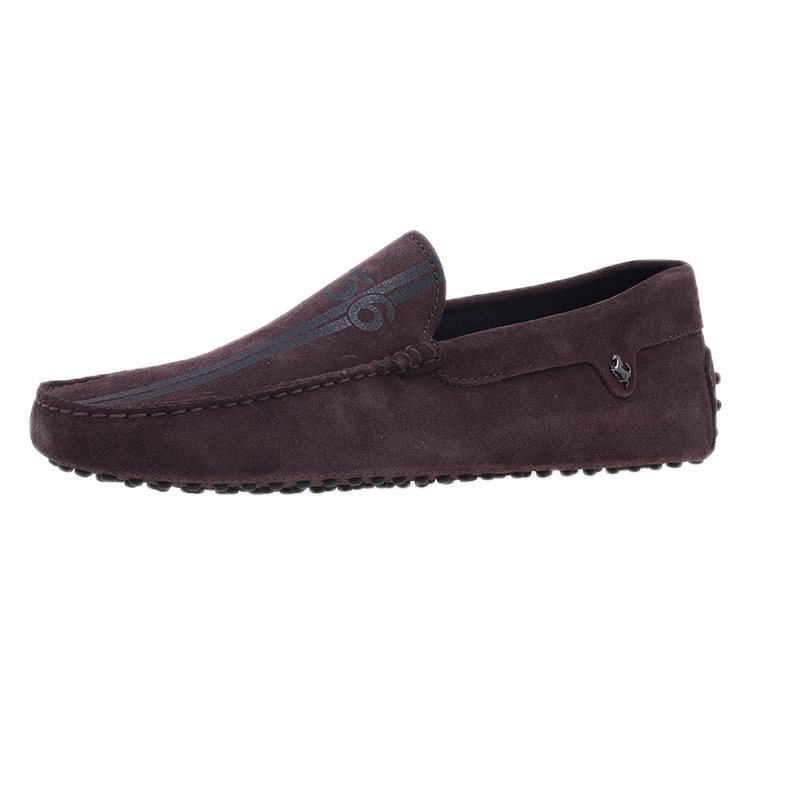 save off a82c2 45298 Tod's for Ferrari Brown Suede No.56 Limited Edition Gommino Loafers Size  42.5