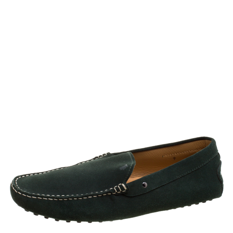 d6c447daed3 Buy Tod s Pine Green Suede Moccasins Size 43 121171 at best price