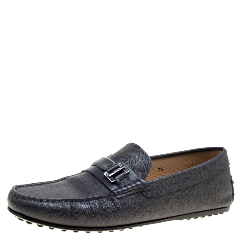 City Size Gommino Loafers Tod's 5 Leather Detail Blue 41 Buckle Qhtdrs