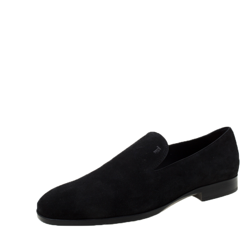 Tod's Black Suede Loafers Size 44 Tod's