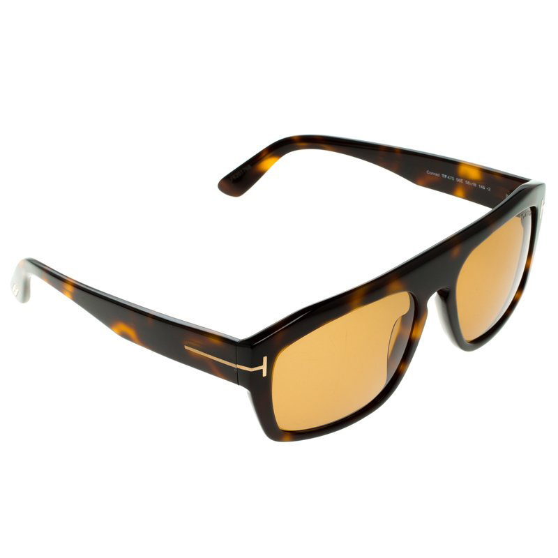 Tom Ford Brown Tortoise TF470 Conrad Sunglasses