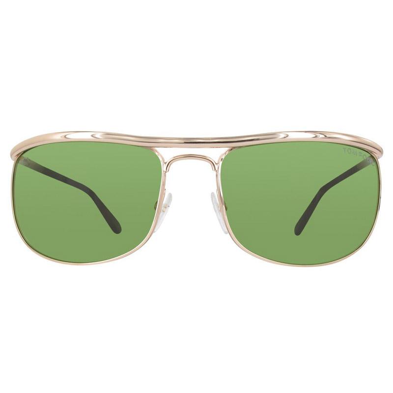 7e3acd599 إشتري نظارة شمسية توم فورد مربعة FT0418 خضراء/ ذهبية وردية لامعة ...