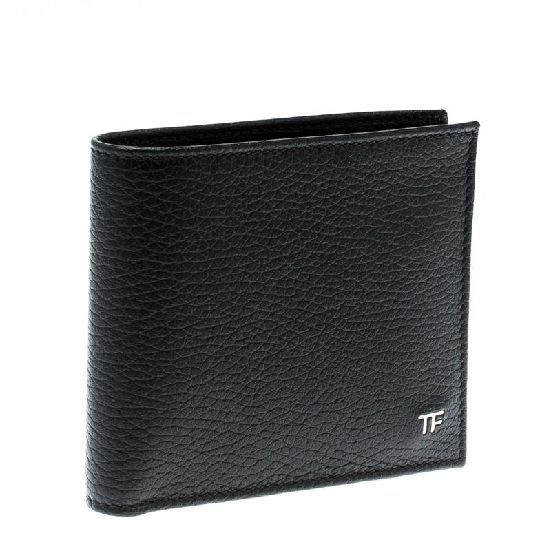 Tom Ford Black Leather Bifold Wallet Tom Ford Tlc