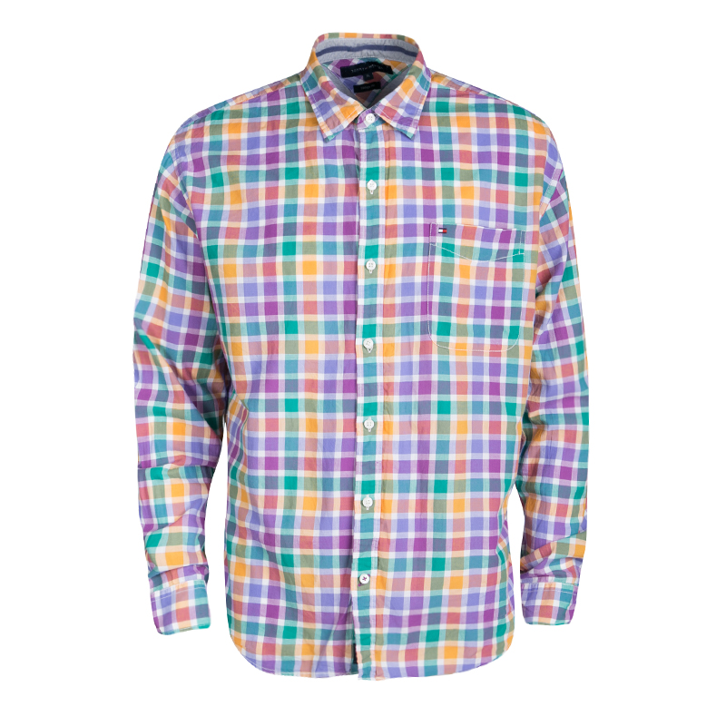 0a19bc7b ... Tommy Hilfiger Multicolor Checked Cotton Long Sleeve Vintage Fit Shirt  XL. nextprev. prevnext