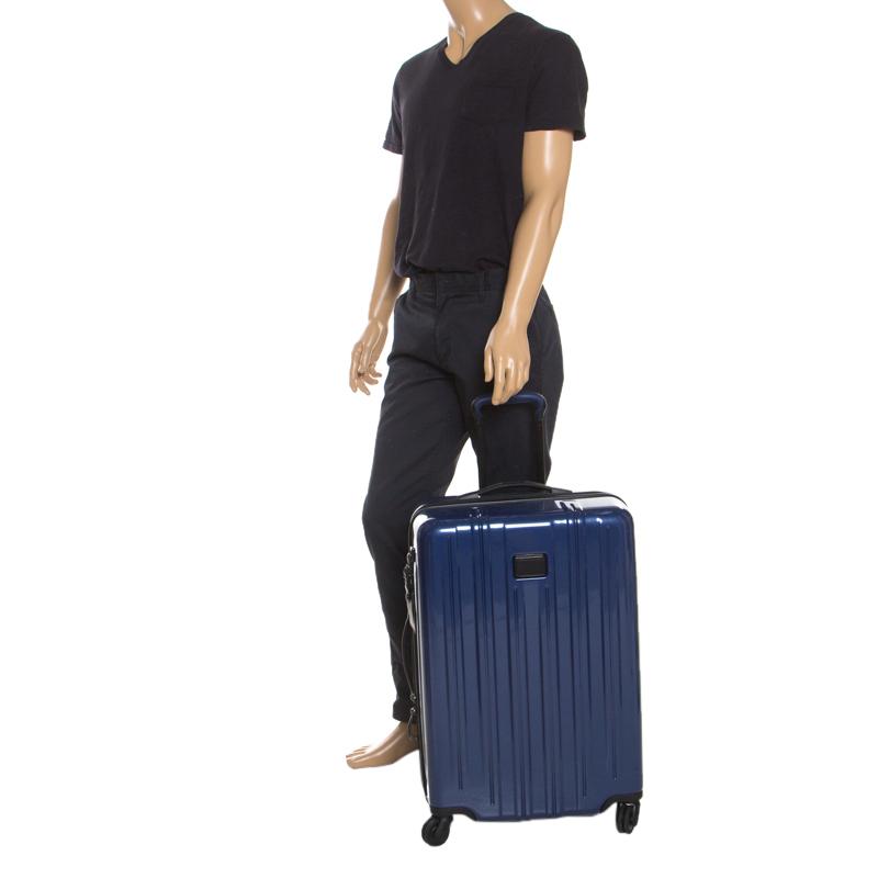 TUMI-Blauer PVC-V3-Rollen Koffer