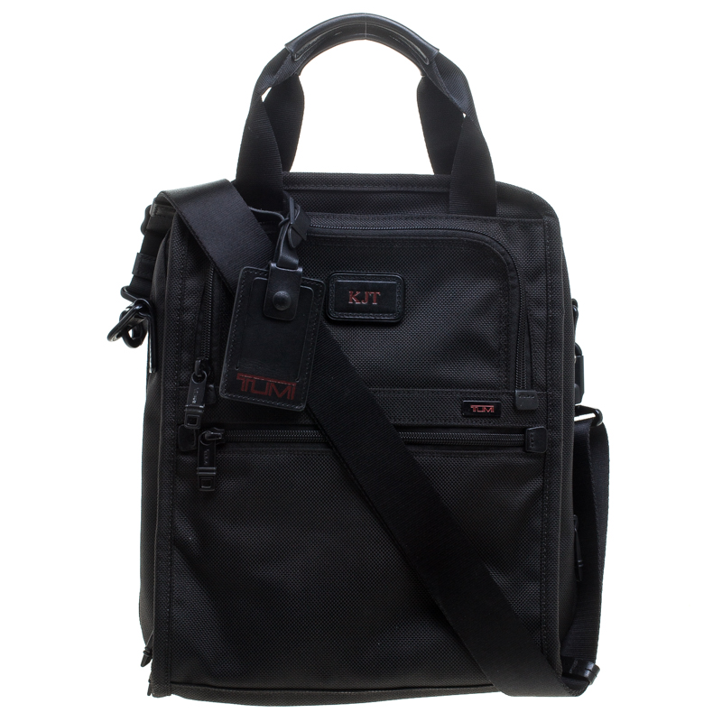 TUMI Black Nylon Alpha II Tote