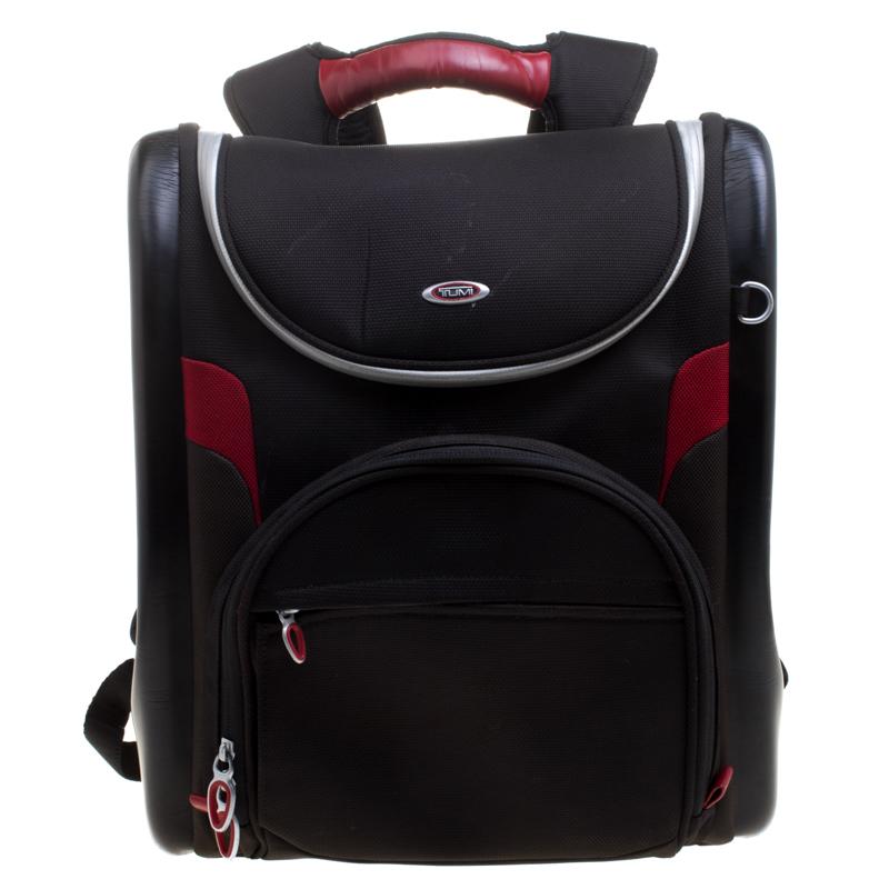 c2e617b2b84735 ... Tumi Black/Red Nylon and Leather Laptop Backpack. nextprev. prevnext
