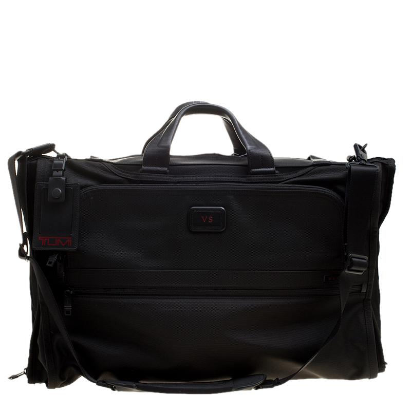 a1f1d402d Buy Tumi Black Nylon Tri Fold Alpha II Garment Travel Bag 137685 at ...