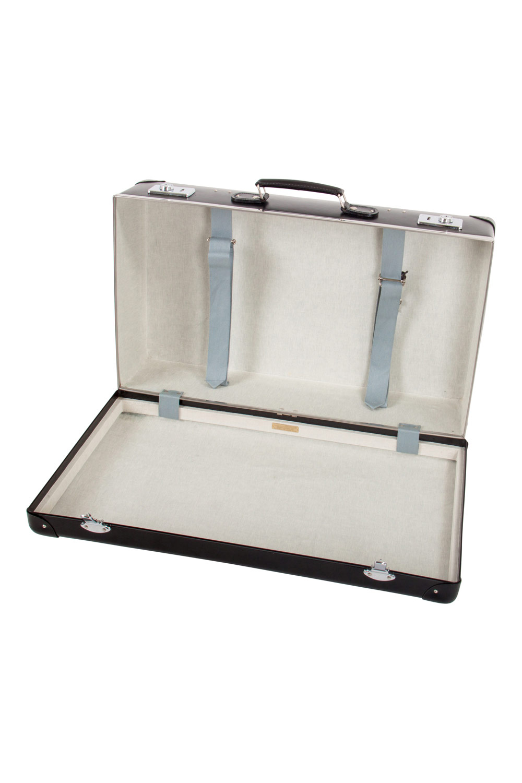 Globe-Trotter en Plastique Noir et du Cuir Original 26 Valise Bagages