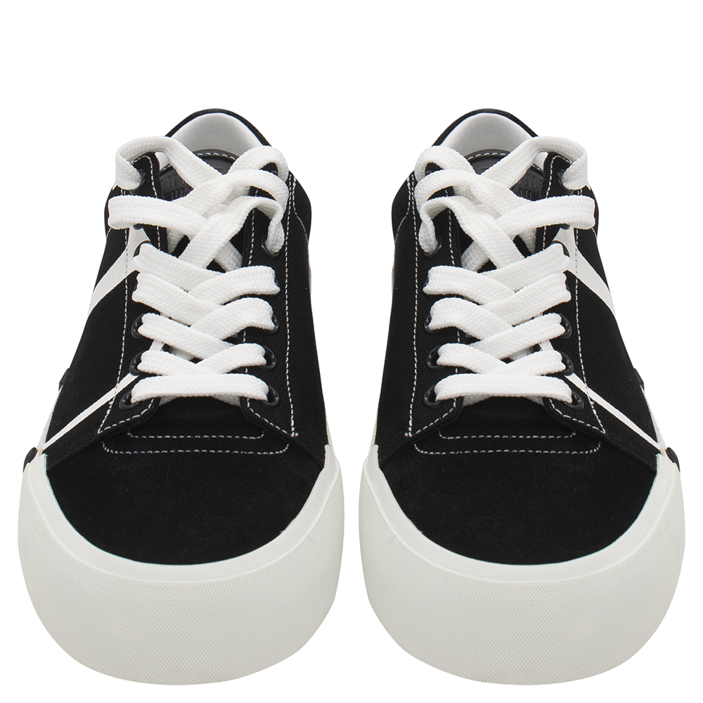 Valentino Black/White Canvas and Suede Tricks Sneakers Size