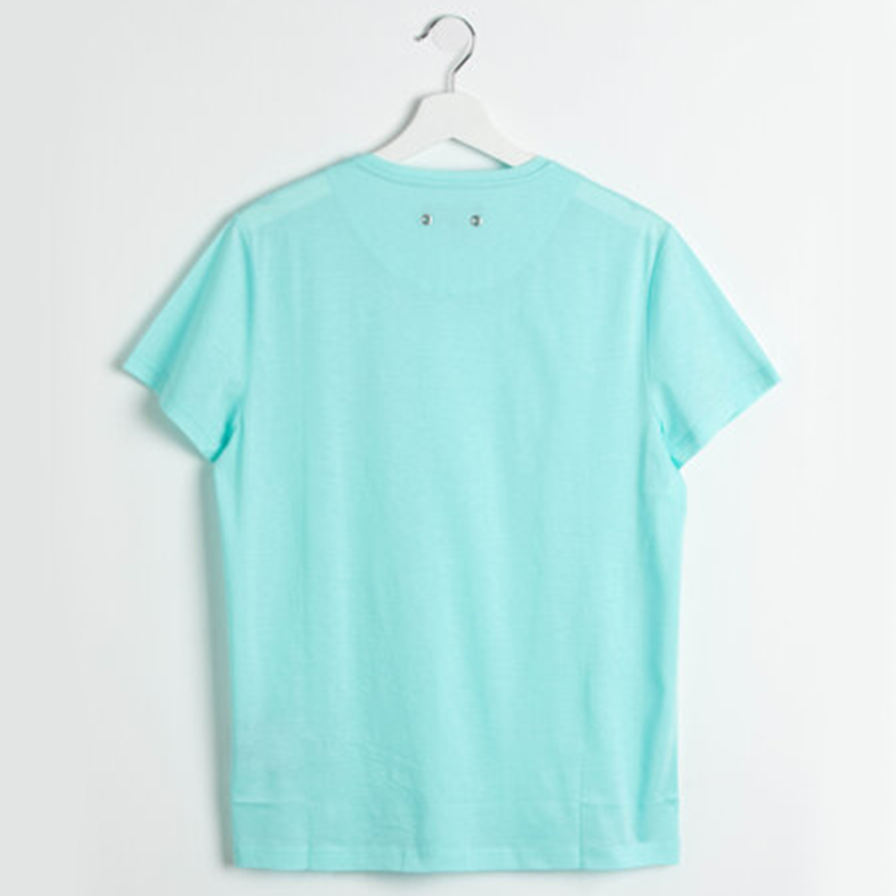 Vilebrequin Blue Tender V-neck Lagon Jersey T-shirt XXXL (Available for UAE Customers Only)