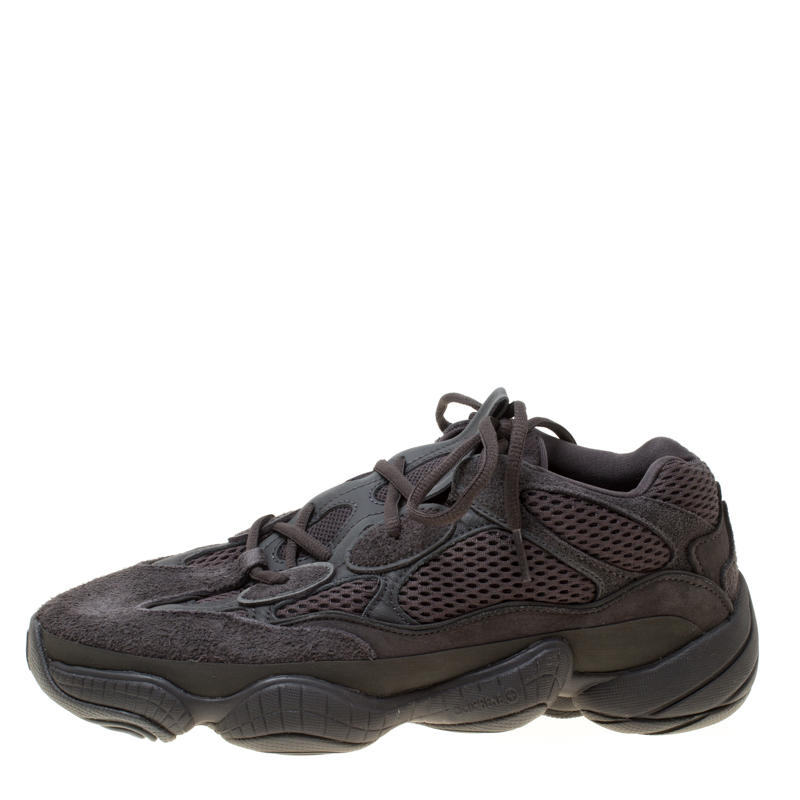 sale retailer cb806 88f1f Yeezy x Adidas Utility Black Mesh And Suede 500 Desert Rat Sneakers Size 42