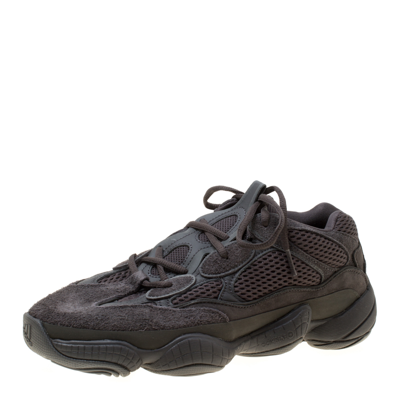 sale retailer 9a89a dbd07 Yeezy x Adidas Utility Black Mesh And Suede 500 Desert Rat Sneakers Size 42