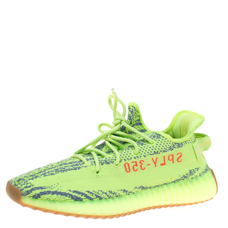 995d13e7ce6 Buy Yeezy x Adidas Semi Frozen Yellow Cotton Knit Boost 350 V2 Zebra ...