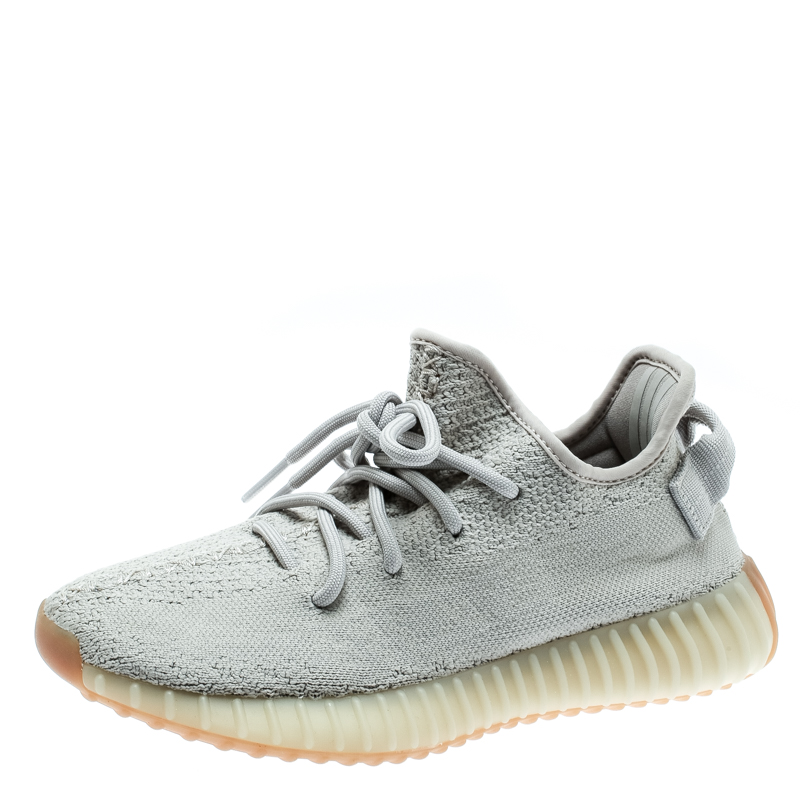 sale retailer 36258 18024 Yeezy x Adidas Sesame Cotton Knit Boost 350 V2 Sneakers Size 36.5