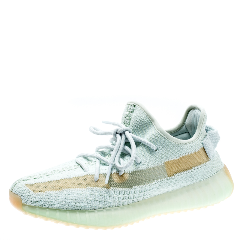 factory price fda06 37d0a Yeezy x Adidas Light Green Cotton Knit Boost 350 V2 Hyperspace Sneakers  Size 40