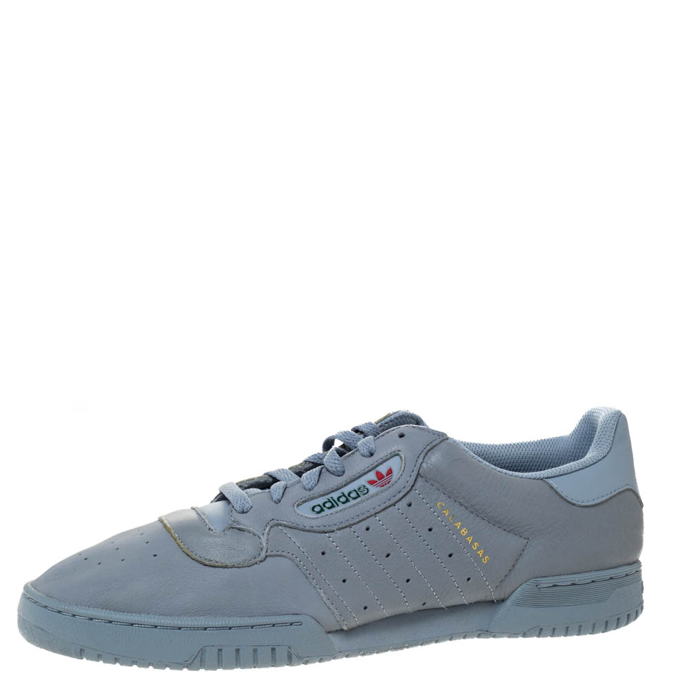 Yeezy x Adidas Grey Leather Powerphase Calabasas Sneaker Size 46.5