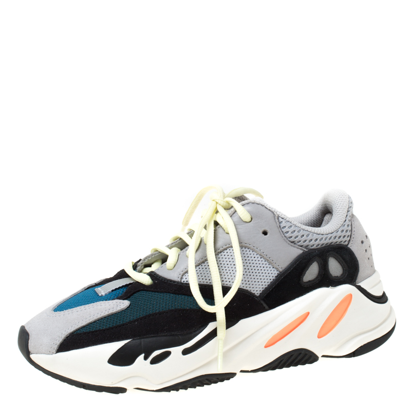 Yeezy x Adidas Multicolor Mix Media Boost 700 Wave Runner Sneakers Size 38