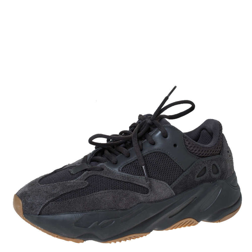 Yeezy x Adidas Dark Grey Suede And Mesh