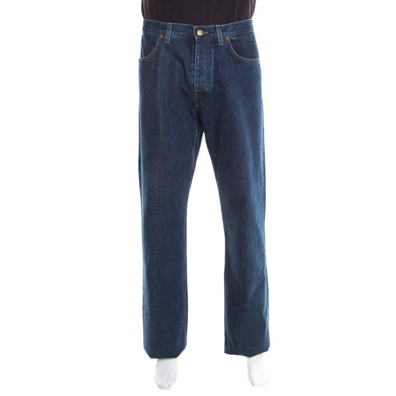 44d33582c2c Buy Yves Saint Laurent Paris Indigo Dark Wash Straight Leg Jeans 2XL ...