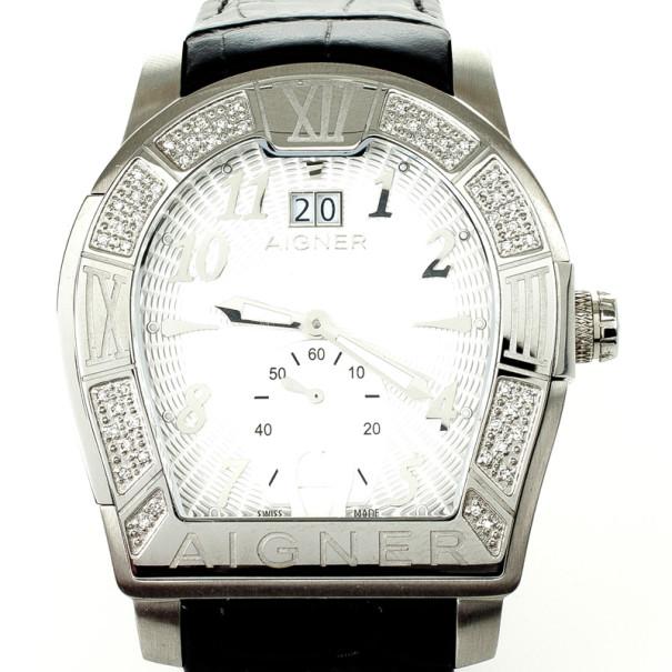 Desventaja Materialismo Parte  Aigner Roma Chronograph Diamond Mens Wristwatch 44 MM Aigner | TLC