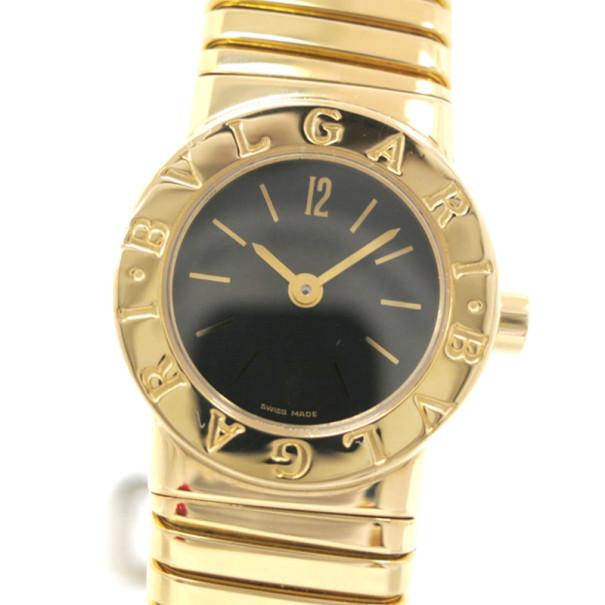 Bvlgari Tubogas 18K Gold Ladies Wristwatch