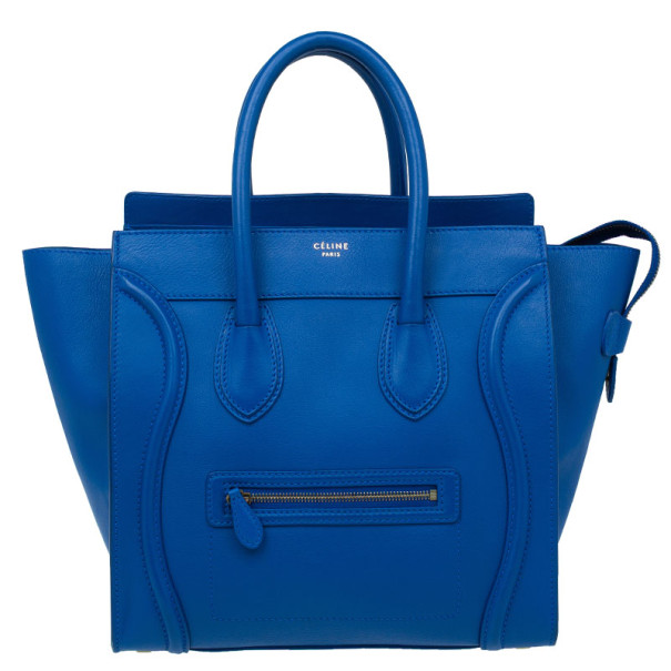 cd65d166e5c2 Buy Celine Electric Blue Palmelato Leather Mini Luggage Tote 9207 at ...