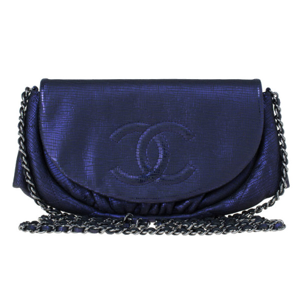 0e1f3c10788a Buy Chanel Purple Glitter Leather Half Moon Wallet On Chain 13985 at ...