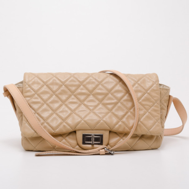 Chanel Beige Quilted Crossbody