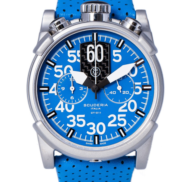 CT Scuderia Blue Stainless Steel CS10119 Men's Wristwatch 46MM