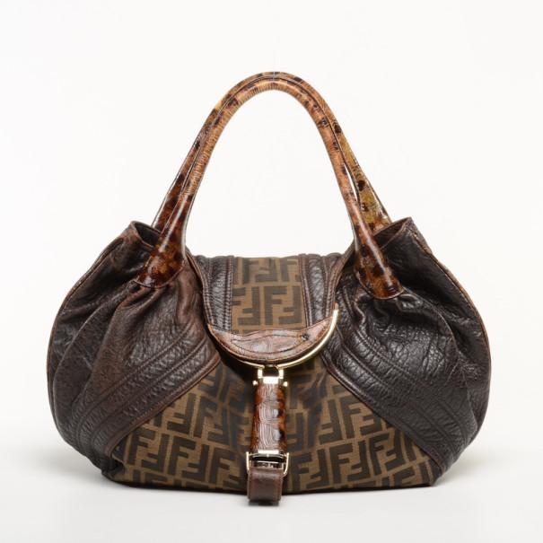 wholesale dealer aa7b2 83a25 Fendi Zucca Turtle Spy Bag