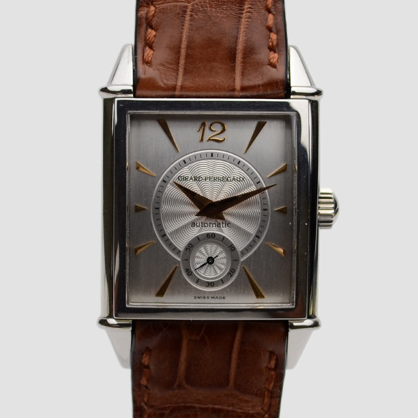 Girard Perregaux Vintage 1945 SS White Mens Wristwatch 30 MM