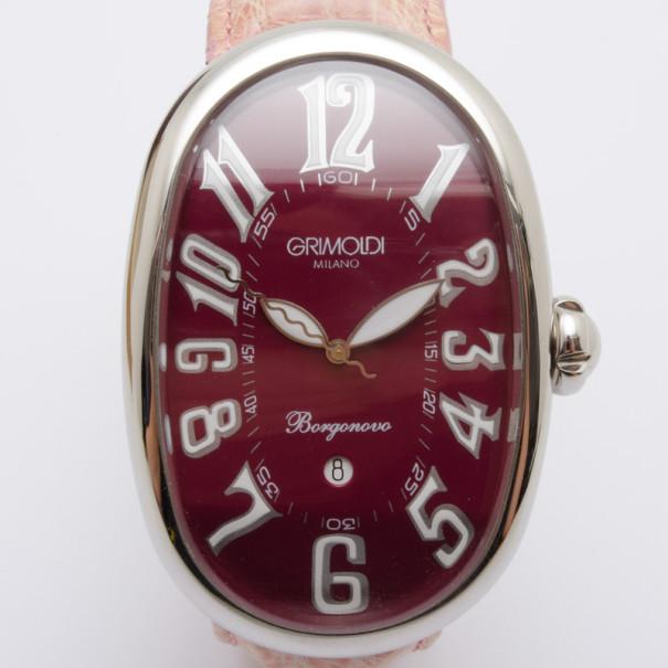 Grimoldi Milano Wine Red Borgonovo SS Automatic Unisex Wristwatch