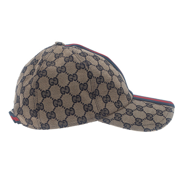 e18308b348a Buy Gucci Navy GG Canvas Web Detail Baseball Cap Size M 13113 at best price