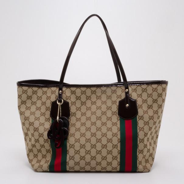 d8c818fc3c84 Buy Gucci Monogram Jolicoeur Tote 37809 at best price   TLC