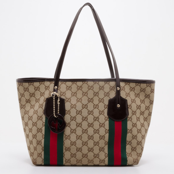 7d7a9eeba68d Buy Gucci GG Canvas Jolicoeur Small Tote 37876 at best price | TLC